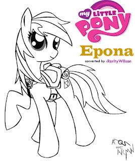 Epona My Little Pony Coloring Pages