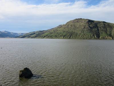 Lago Forsyth, en la Península de Banks, Nueva Zelanda