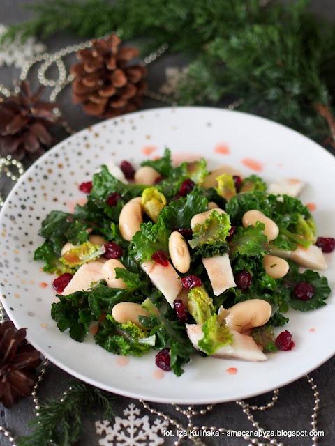 nowe warzywo, krzyzowka jarmuzu i brukselki, salata, sledz, fasola biala, swiateczne dania, swiateczne potrawy, wigilia i bozenarodzenie
