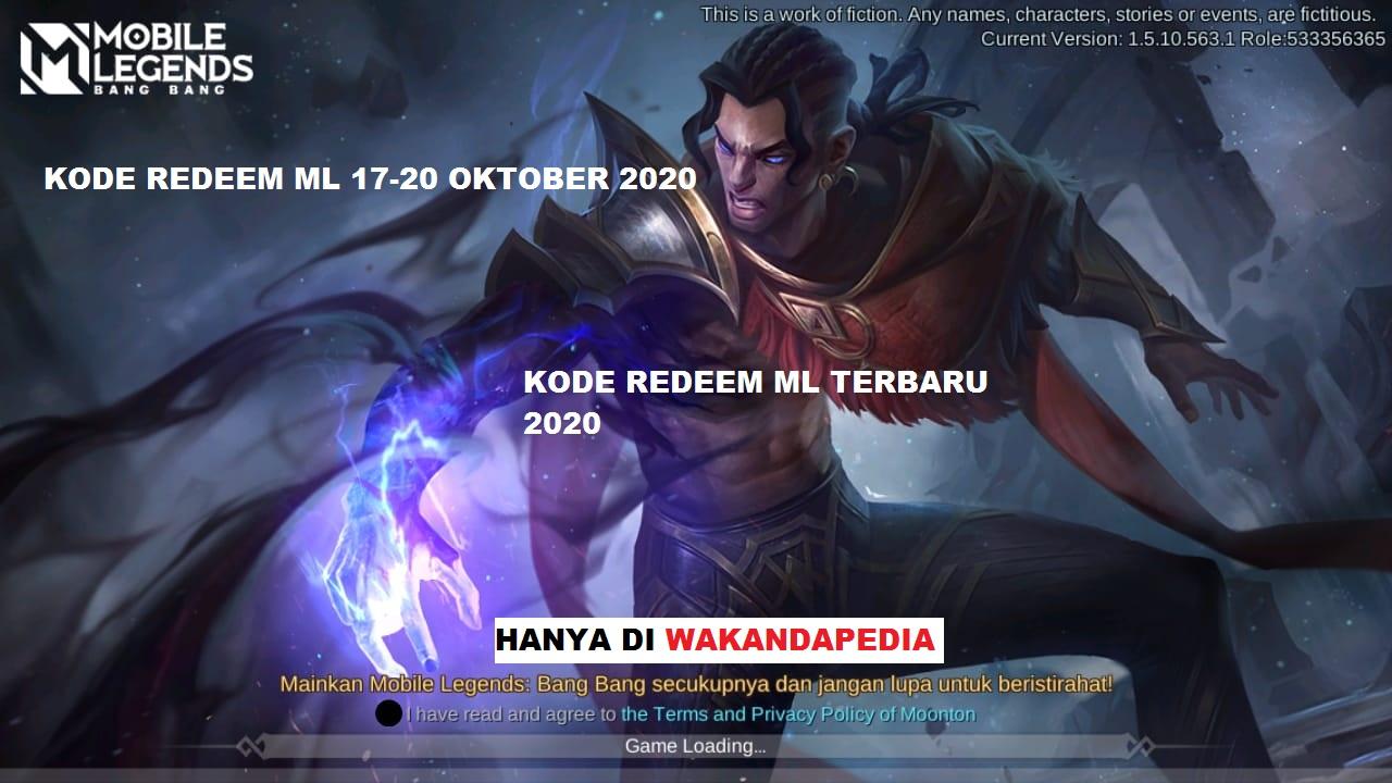 NEW UPDATE CODE | KODE REDEEM ML 17-20 OKTOBER 2020