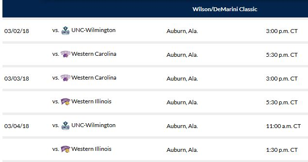 Auburn Softball Schedule