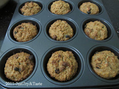 Resep Muffin Oatmeal JTT