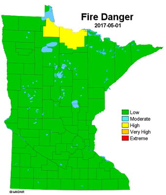 Minnesota fire danger 5/1/17