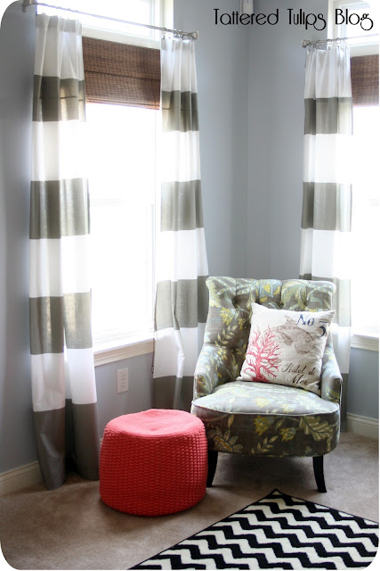 Tattered Tulips Coastal Inspired Family Room