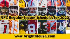 NFL 2020 Schedules