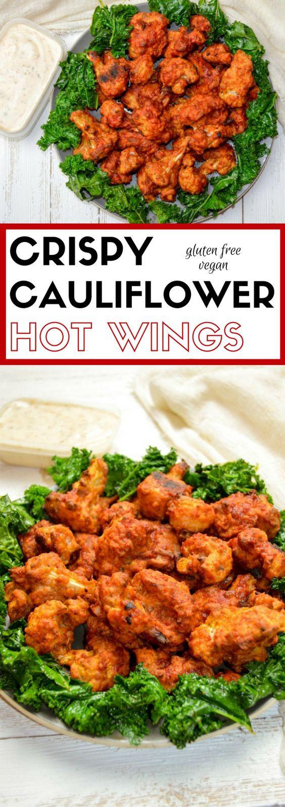 Vegan Crispy Cauliflower Hot Wings
