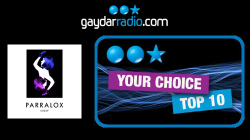 Parralox is #2 - Vote NOW to get Creep to #1 on Gaydar Radio!