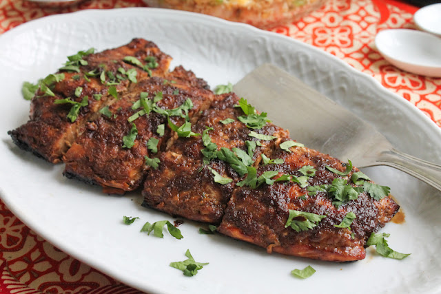 Food Lust People Love: This charcoal grilled soy ginger salmon is bursting with flavor from the sticky roasted marinade but what really makes the salmon divine is the smokiness from the hot charcoal.