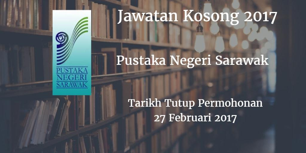 Jawatan Kosong Pustaka Negeri Sarawak  27 Februari 2017