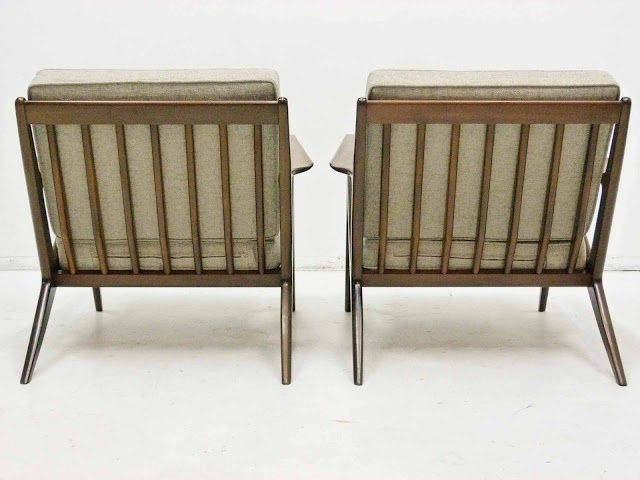 "Paul Jensen for Seilg Mid Century Danish Modern ""Z"" Lounge Chairs 3"