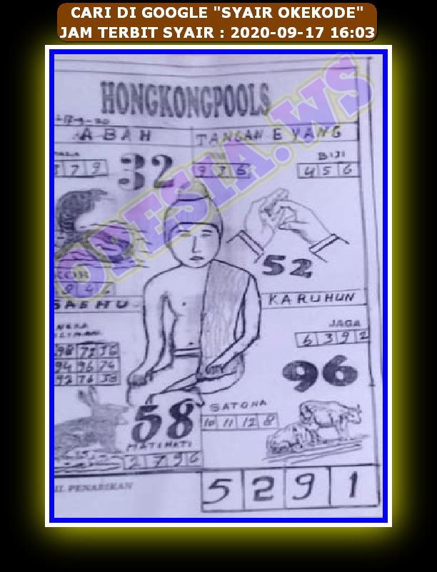 Kode syair Hongkong Kamis 17 September 2020 66