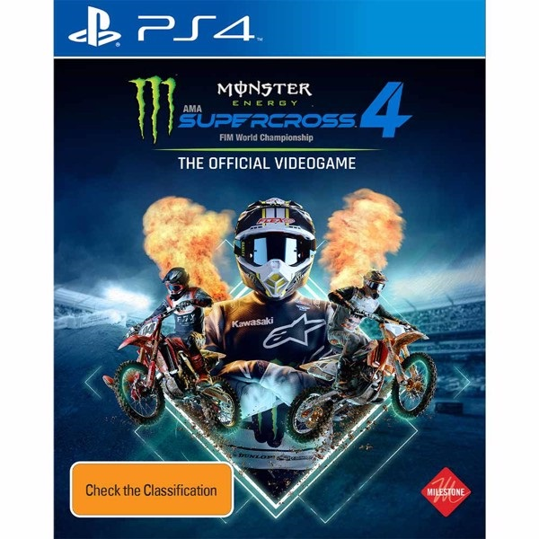 Monster Energy Supercross 4 PS4 Game Cover
