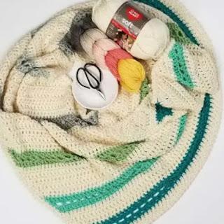 Bufanda Vientos Alisios a Crochet