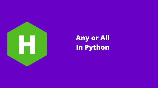HackerRank Any or All in python problem solution