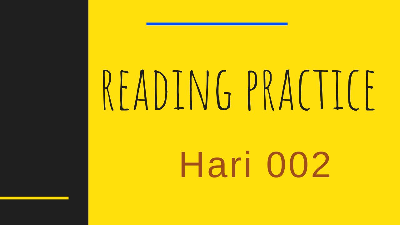 Latihan Pronunciation Bahasa Inggris Hari 02