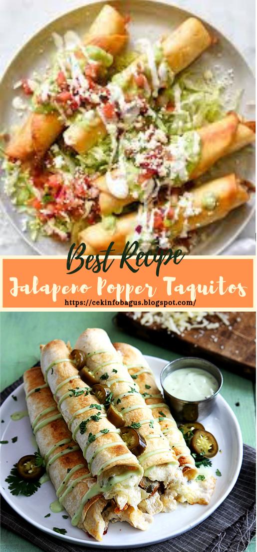 Jalapeno Popper Taquitos #dinnerrecipe #food #amazingrecipe #easyrecipe
