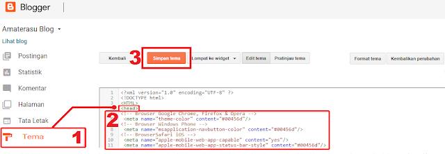Cara Mengubah Warna Address Bar Blog Tampilan Browser Mobile/seluler