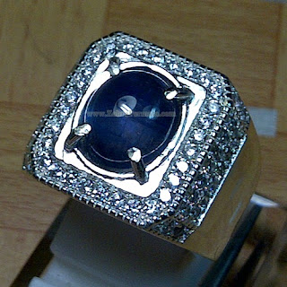 Cincin Batu Permata Blue Safir - ZP 872