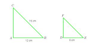 menentukan panjang sisi segitiga yang sebangun