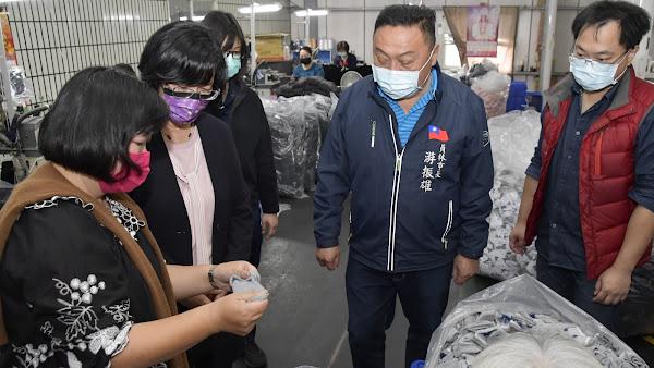王惠美參訪得展棉業 造福彰化在地就業機會