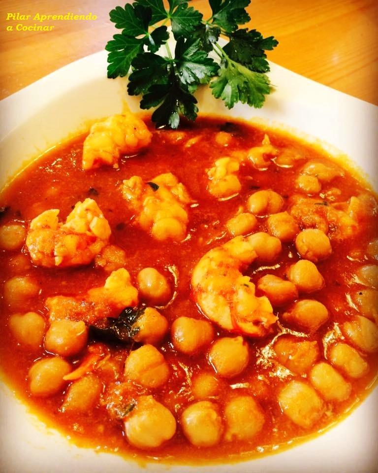 Aprendiendo a cocinar garbanzos con langostinos rotaaldia for Cocinar con 5 ingredientes