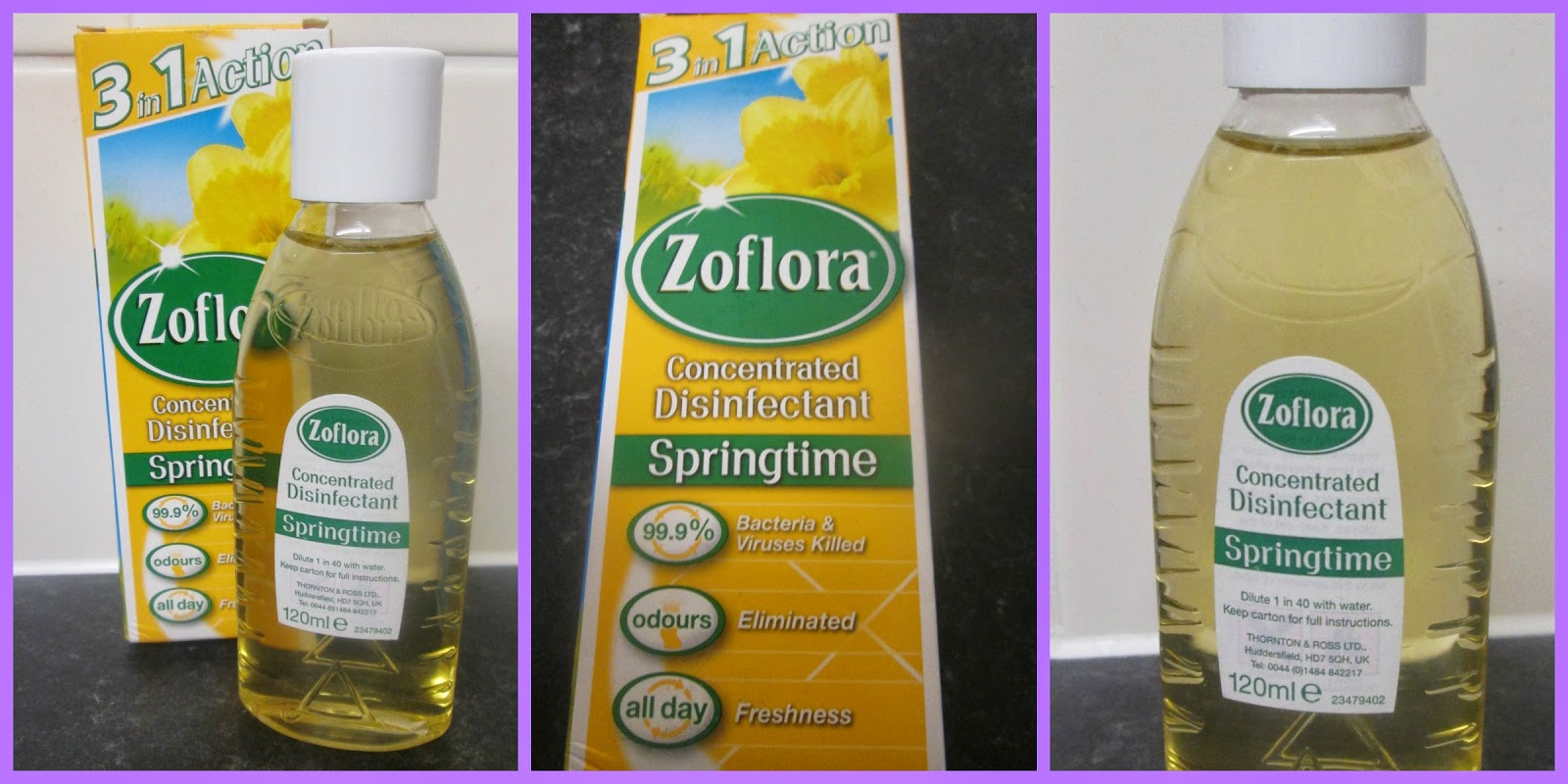 spring cleaning with disinfectant zoflora