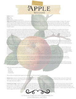 Magical and medicinal uses of Apple. Includes FREE BOS page!