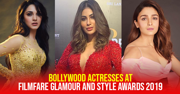 bollywood actress filmfare awards 2019 sizzling red carpet