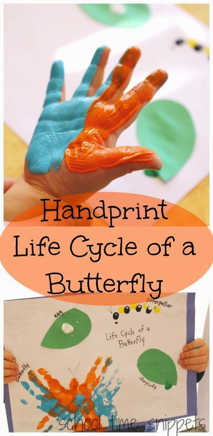 preschool hand print butterfly lifecycle