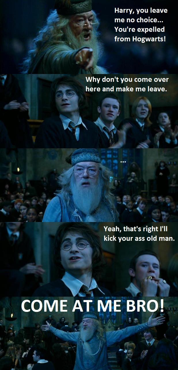 Harry battles Dumbledore funny