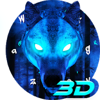 Ice Wolf 3D Keyboard Theme Apk free Download for Android