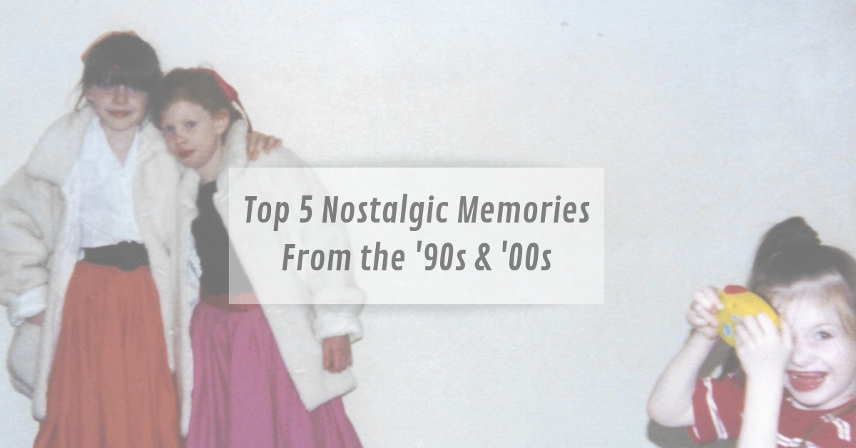 a list of memories from 1990 and 2000 which includes the Spice Girls