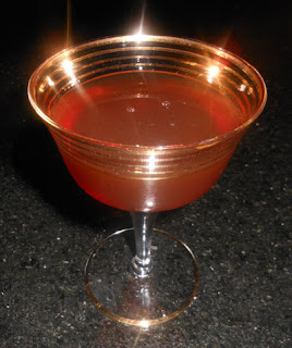 gold rimmed cocktail glass
