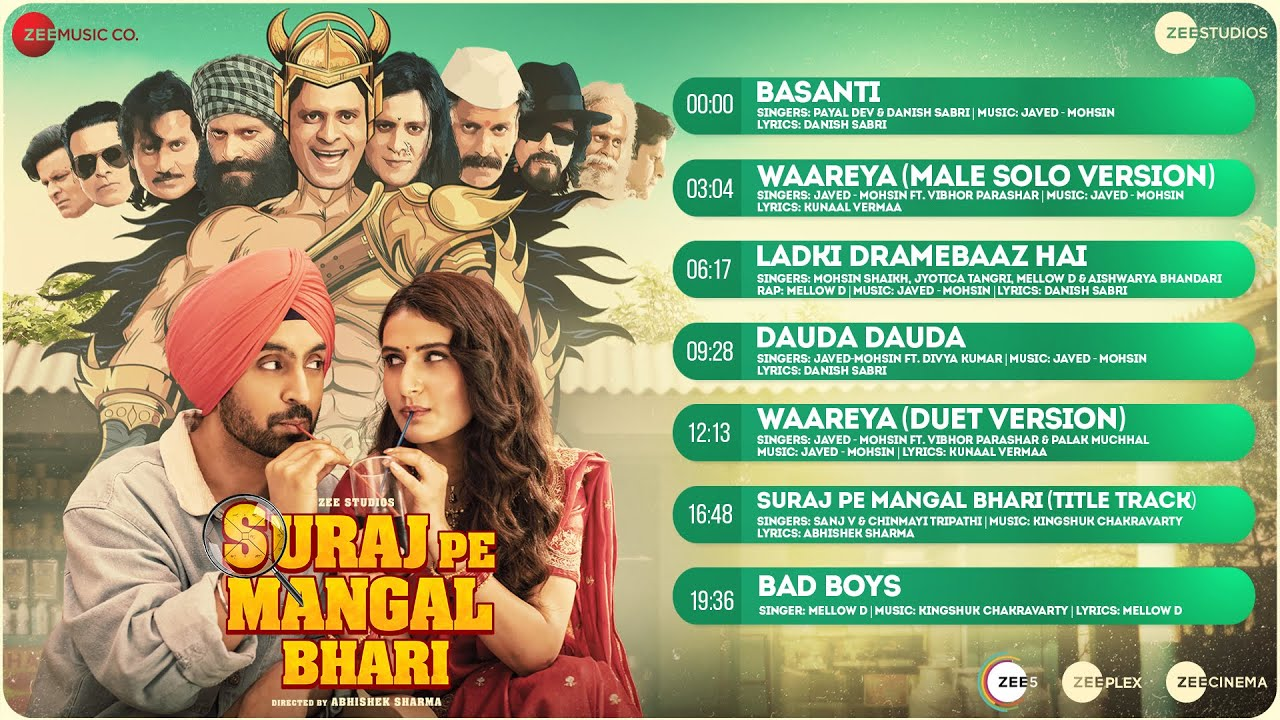 Ladki Dramebaaz Hai Lyrics Suraj Pe Mangal Bhari | Diljit Dosanjh | Mohsin Shaikh