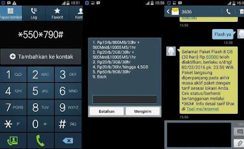 Tips Cara yang Benar Daftar / Beli Paket Data Internet Telkomsel Harga 50 Ribu Dapat Kuota 8GB