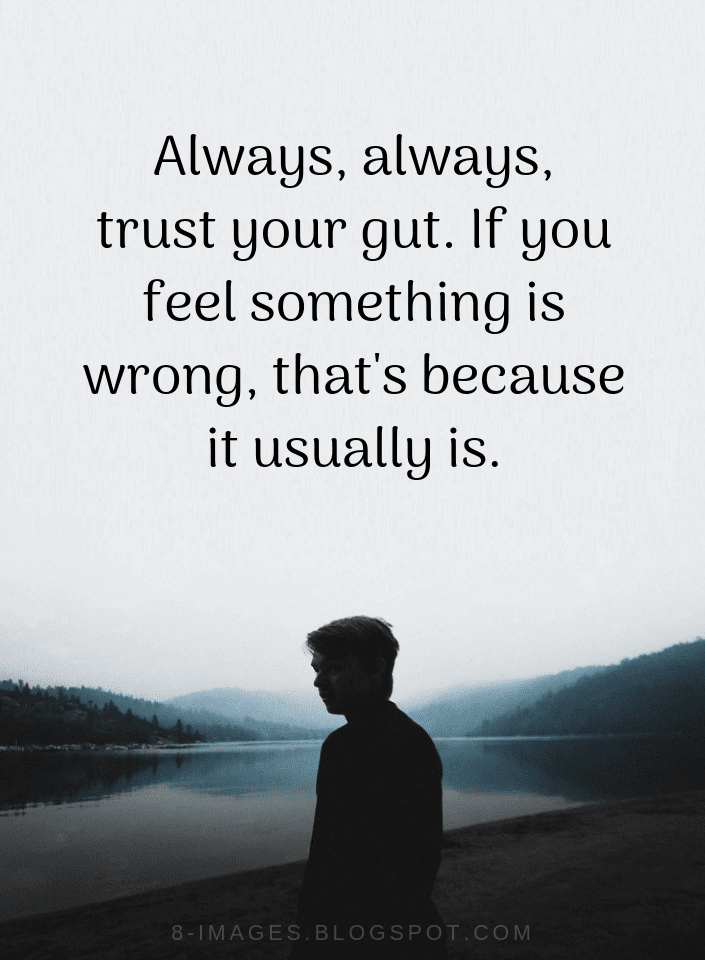 Trusting your gut in relationships