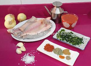 Ingredientes Tajine de dorada en salsa especiada de tomate y cebolla