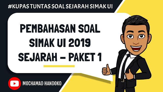 SOAL SEJARAH SIMAK UI 2019