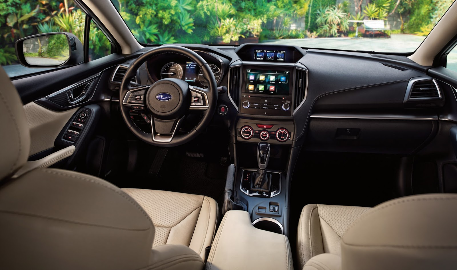 Nội thất gọn gàng, chắc chắn, bền bỉ cũng là điểm + nữa cho Subaru Impreza 2017