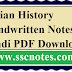 Indian History Handwritten Notes in Hindi PDF Download