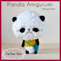 Mini panda amigurumi