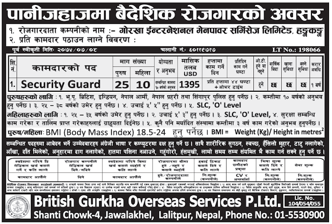 Jobs in Hong Kong for Nepali, Salary Rs 1,43,685