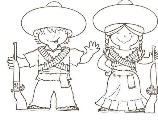 Independencia De Mexico Dibujos Para Colorear Traje Tipico