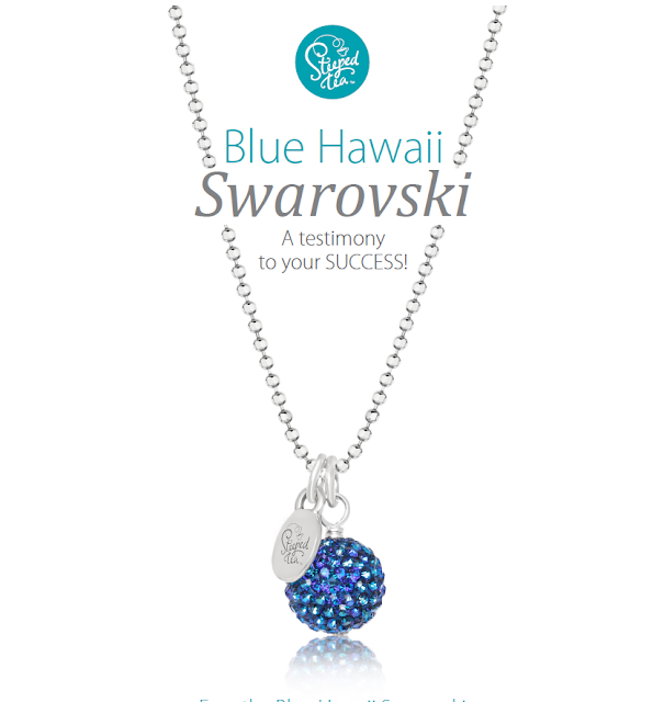 Swarovski necklace award from Steeped Tea