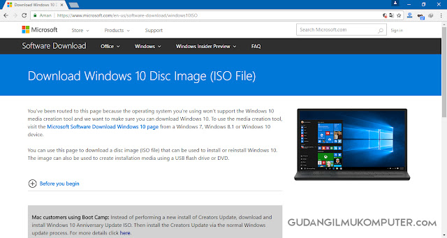 Cara Download File ISO Windows dari Halaman Resmi Microsoft