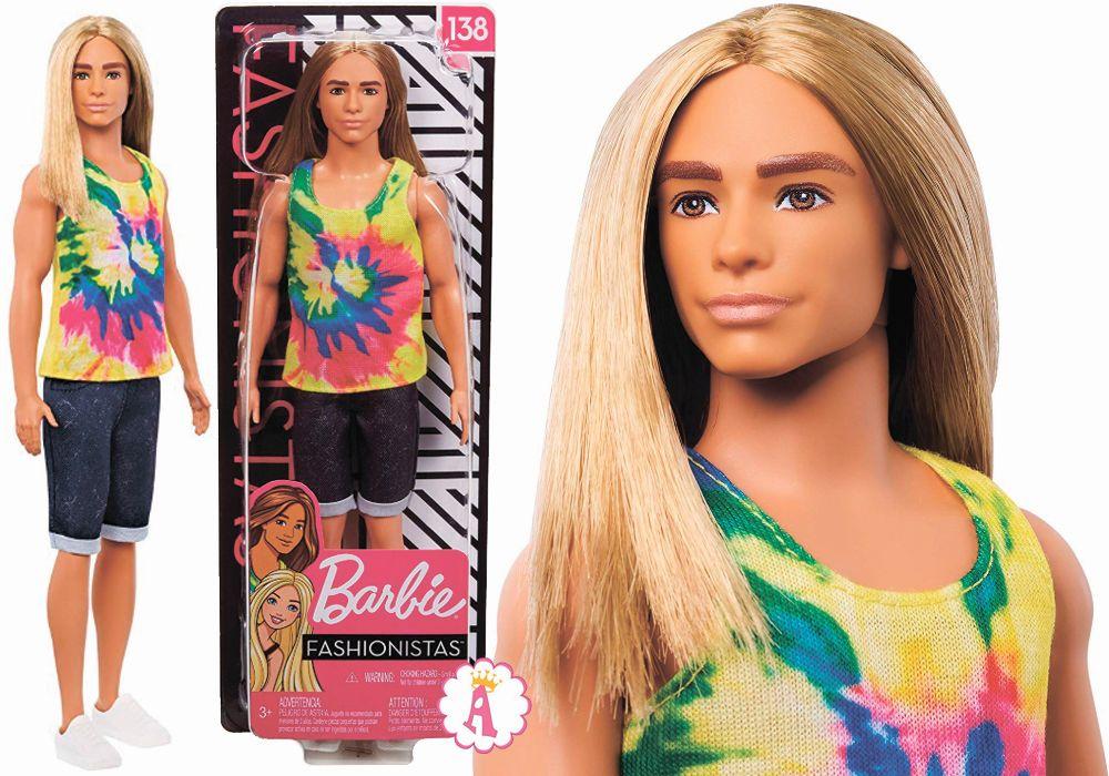 Кен с длинными волосами Ken Fashionistas Doll new Barbie toys 2020