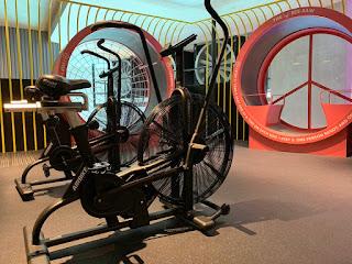 Fitness area at lyf Funan