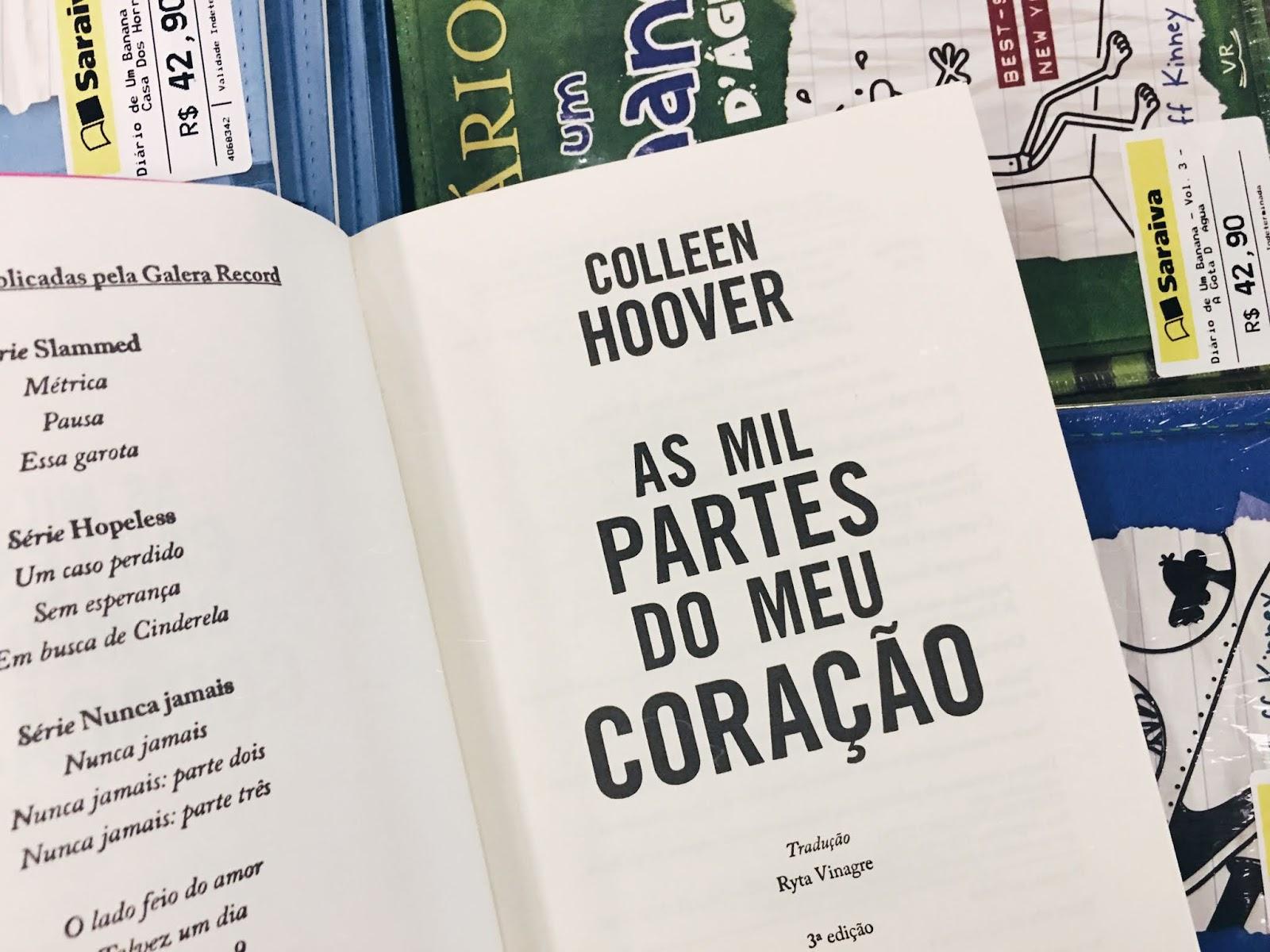 As mil partes do meu coração - Colleen Hoover | Resenha