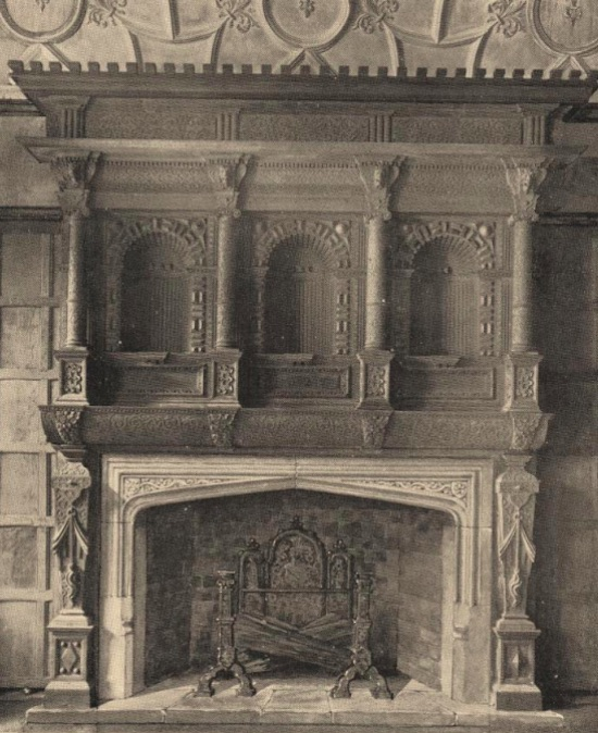 The 1527 carved oak chimneypiece - Image from the Peter Miller collection