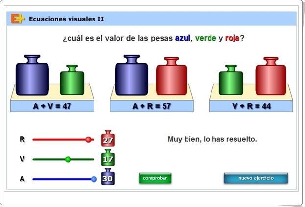 """""""Ecuaciones visuales II"""" (Juego de Matemáticas de Secundaria)"""